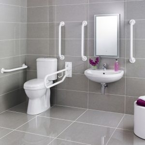 Comfort height and Less Abled toilets